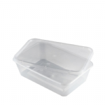 Clear Container & Lid [500,650,700,750ml&1Ltr]
